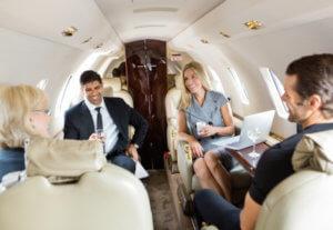 zakenreis prive jet